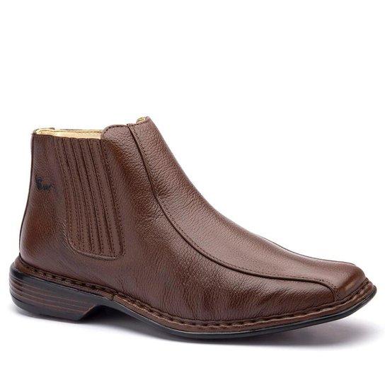 51fc52717b Botina Masculino 3030 em Couro Floater Doctor Shoes - Café - Compre ...