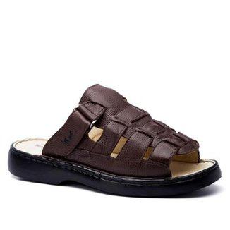 e3aa22ed9c Sandália Masculina 323 em Couro Floater Doctor Shoes