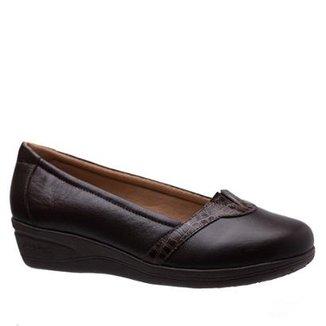 e9f3581000 Scarpin Doctor Shoes Anabela Couro Feminino