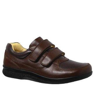 3e48fc2a7a Sapato Masculino Diabético em Couro Floater Doctor Shoes