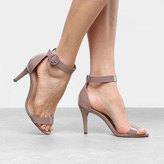 Sandália Drezzup Salto Fino Ankle Strap Feminina b0e4a25238