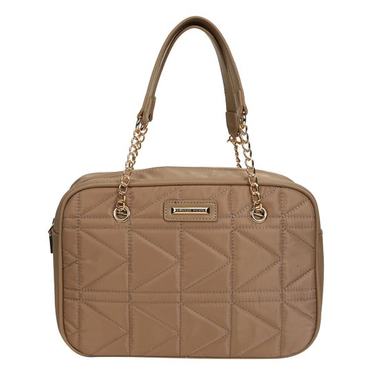Bolsa Queens Mini Bag Matelassê Feminina - Bege - Compre Agora  7bde0e5bc34