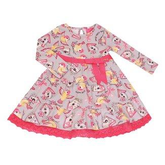 861377ce7 Vestido Momi Manga Longa Rotativo Birds House - Momi