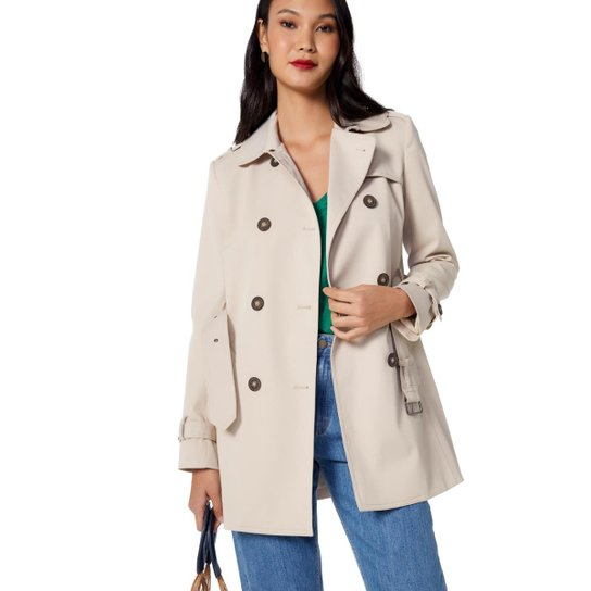 0f64636ef6 Trench Amaro Coat London Breeze - Bege - Compre Agora