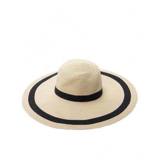 Chapéu Amaro Aba Larga Listra - Bege - Compre Agora  819eeb9534a