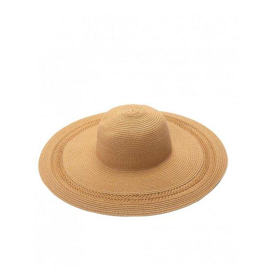 Chapéu Amaro Detalhe Aba Feminino - Bege - Compre Agora  1c75d201858