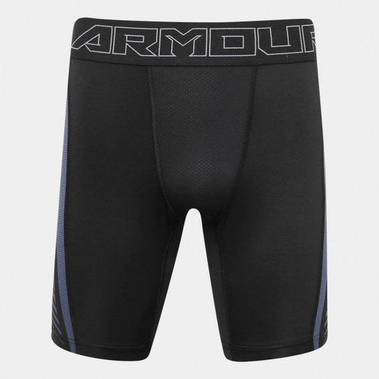 5988fa38c1d Short de Compressão Under Armour HeatGear Supervent 2.0 Masculino - Preto +Grafite