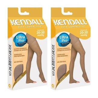 205d373a7 Kit Com 2 Meia-Calça Kendall Alta Compressão Sem Ponteira