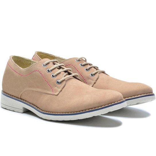 37aee6afcc Sapato Casual Sartre Masculino - Bege