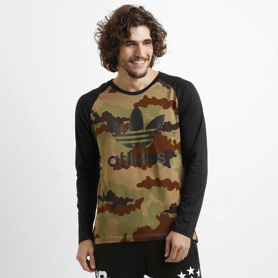b62eeabbbde Camiseta Adidas Camo LS M L - Compre Agora