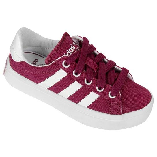 a96dc314b48 Tênis Adidas Courtvantage K Infantil - Rosa Escuro+Branco