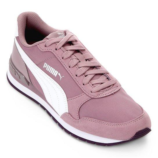 02032120468 Tênis Puma St Runner V2 Nl Feminino - Roxo e Branco - Compre Agora ...