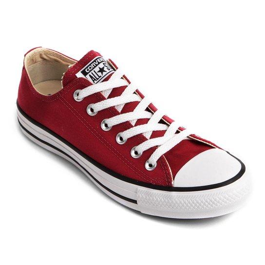 Tênis Converse Chuck Taylor All Star - Vermelho Escuro - Compre ... 211508b0a9