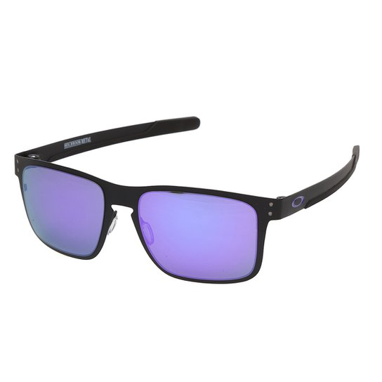 4f72efec67aa4 Óculos Oakley Holbrook Metal Iridium Masculino - Violeta - Compre ...