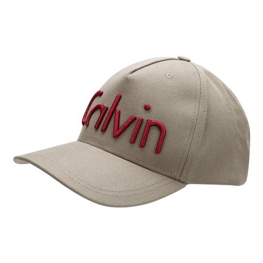 Boné Calvin Klein Aba Curva Logo Masculino - Compre Agora  f9f454aaa05