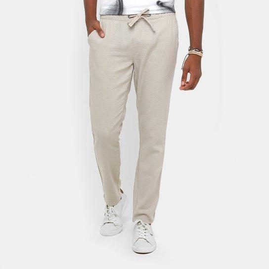 Calça Calvin Klein Linho Cós Amarração Masculina - Compre Agora ... ca471c9452