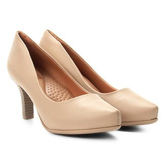 2dd5983148 Scarpins Comfortflex Feminino Bege - Calçados