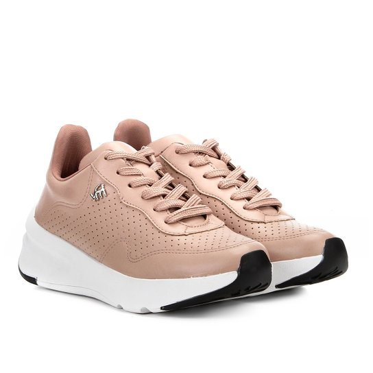 15ea69dea Tênis Chunky Via Marte Dad Sneaker Furinhos Feminino - Rosa | Zattini