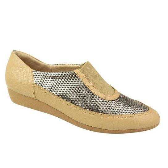 e345b4d597 Sapato Conforto Usaflex Feminino - Bege