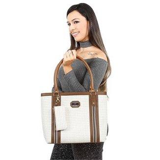 7d36305ef Bolsa Victor Valencia Quadrada Textura Feminina
