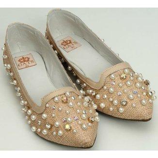f04c8b74d6 Sapato Bordado Perola E Cristal
