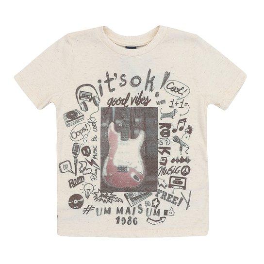 711e49b00 Camiseta Masculino Infantil Manga Curta Guitarra - Compre Agora ...