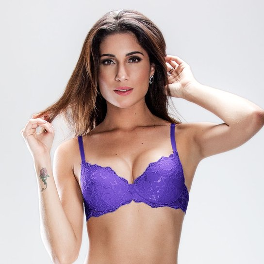 cea78763330aff Sutiã Push Up Em Renda Duloren - Violeta