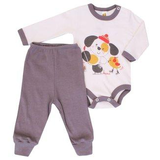 600ea7892a Conjunto Body Calça Baby Duck Dog Piu