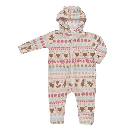Macacão Longo Up Baby Malha Soft com Capuz - Bege - Compre Agora ... a44eaf5ffc53