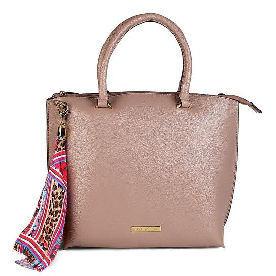 4631858ecc0dc Bolsa Loucos   Santos Shopper com Lenço Feminina - Bege - Compre ...