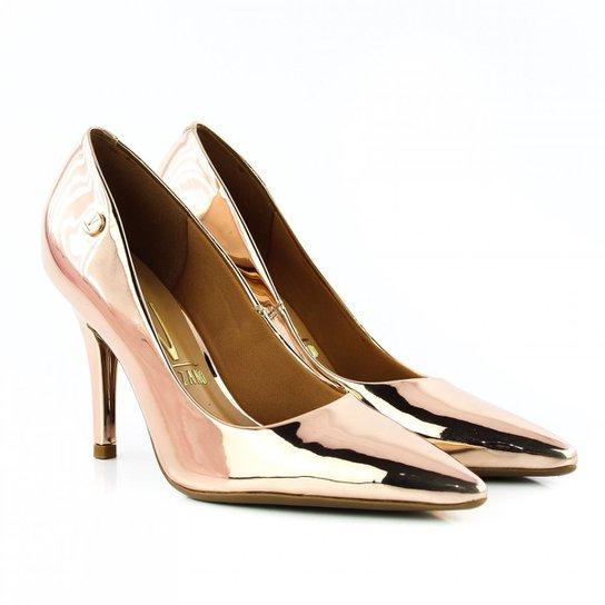 0ed4a4c7e3 Scarpin Vizzano Verniz Premium Feminino - Ouro Rosa