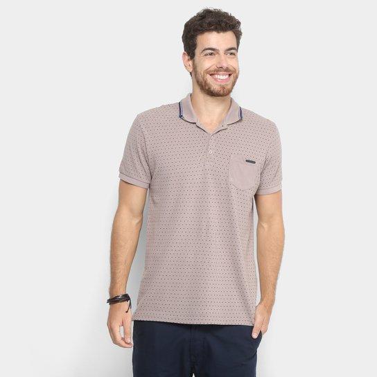 8071d51205 Camisa Polo Forum Poá Masculina - Bege