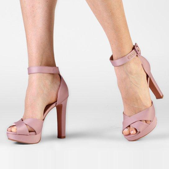 bdb94a4d46 Sandália My Shoes Meia Pata Cetim - Rosa