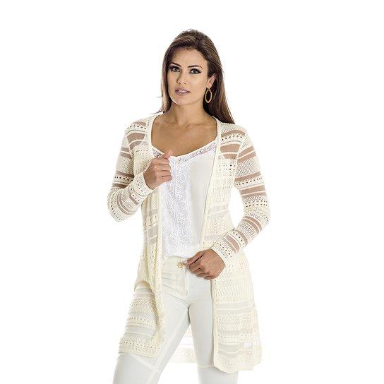 16a243a3ba274 Cardigan Tricot Ana Hickmann - Compre Agora   Zattini