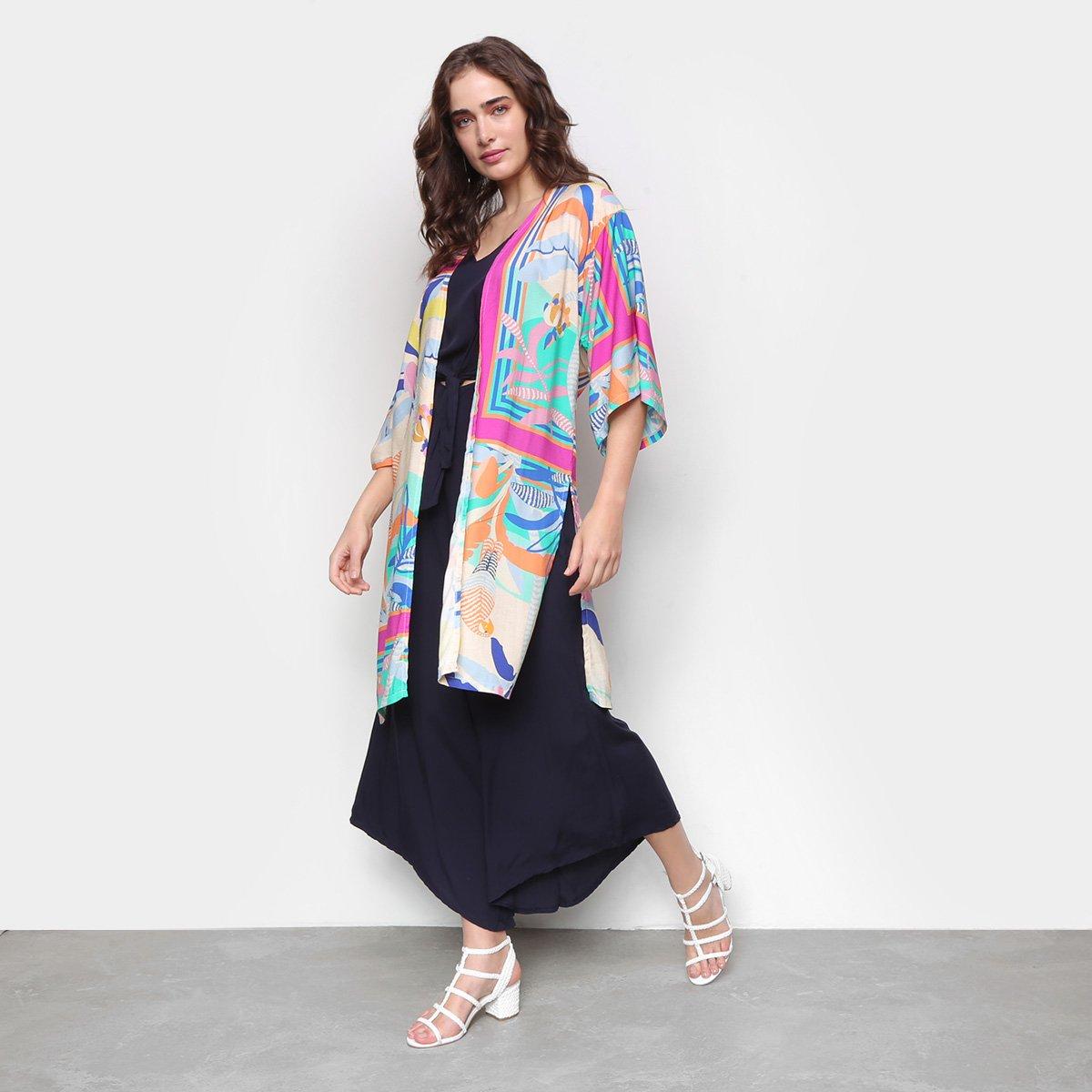 Kimono Mercatto Alongado Paraguaio Feminino