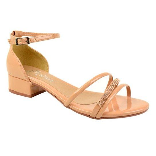 fb02e18004 Sandália de Salto Baixo M Shuz Feminino - Compre Agora