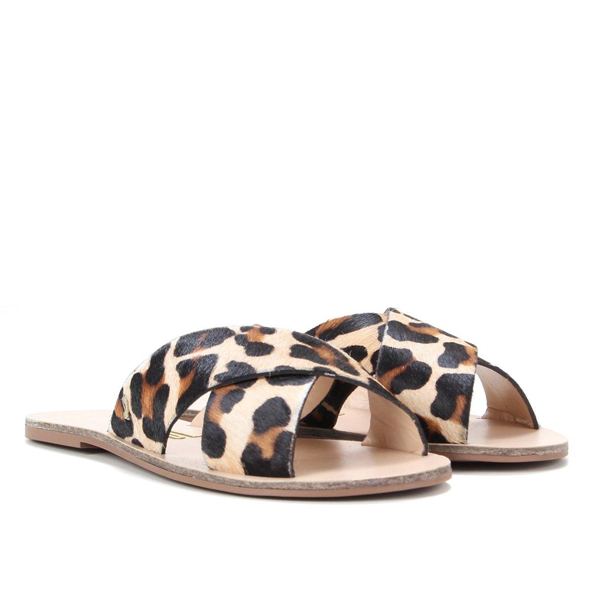 Rasteira Santa Lolla Big Leopard