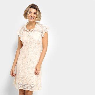 ba4037c24 Vestido MS Fashion Peplum Curto Renda
