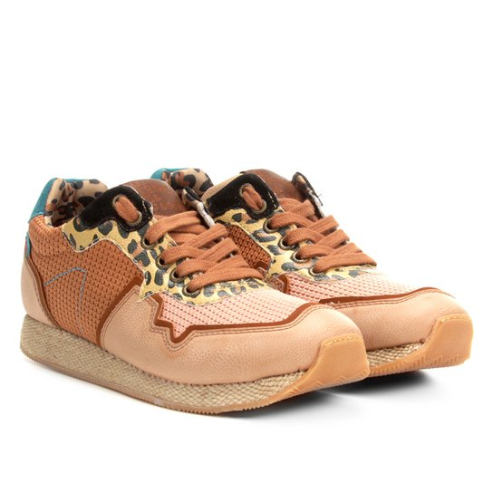a7441e622 Tênis Runner Farm Animal Print Feminino - Bege | Zattini