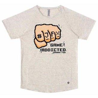 f3e0ba4834 Camiseta Infantil Johnny Fox Game Addicted Masculina