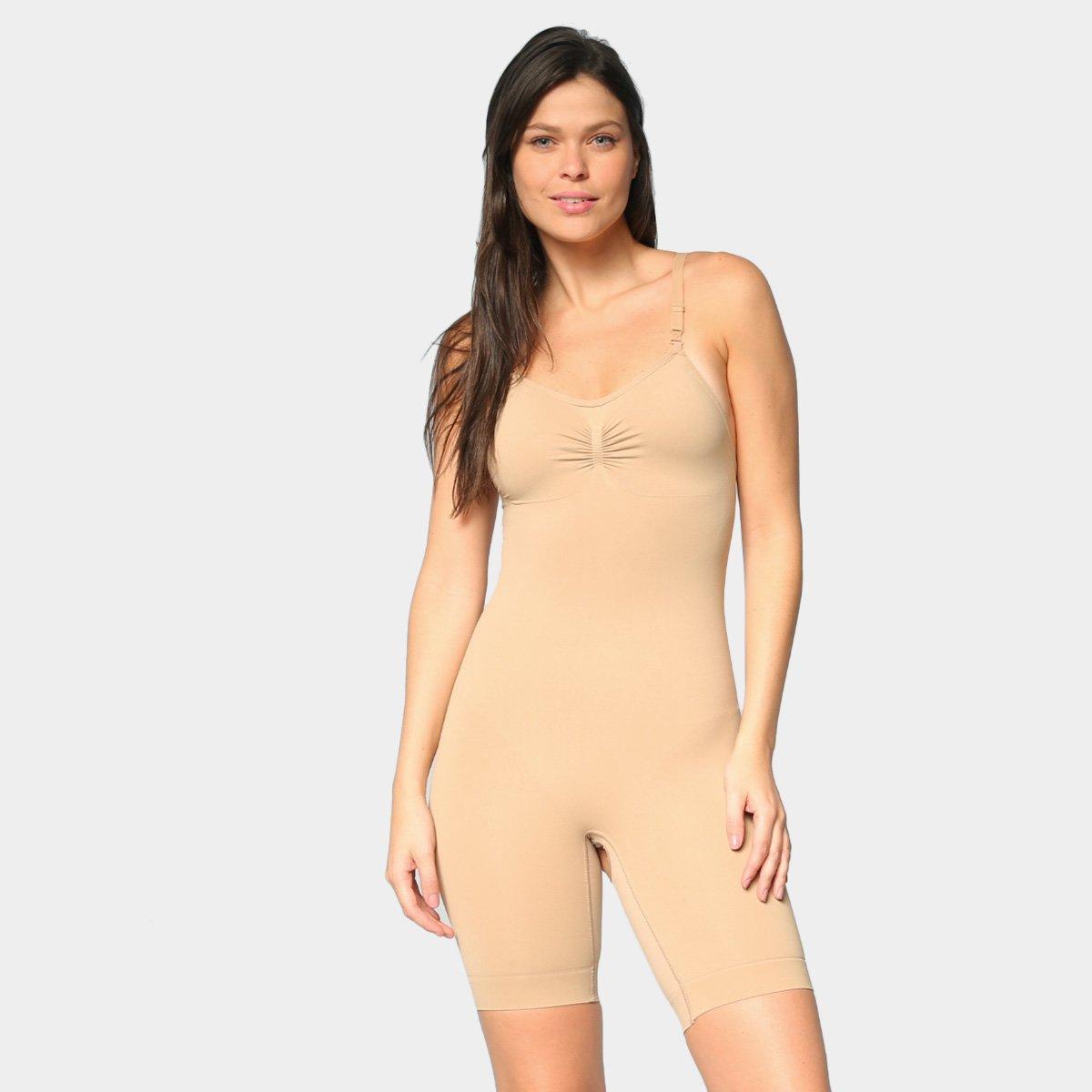 Body Modelador Selene Redutor Shorts Sem Costura