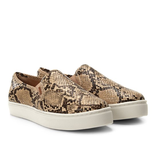 b07b8026be0 Tênis Anacapri Slip On Animal Print Snake Feminino - Bege | Zattini