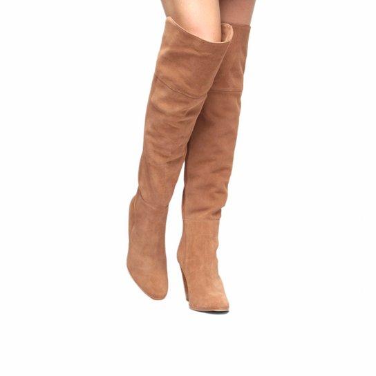 a468017c7 Bota Over The Knee Shoestock Barbicachos Feminina - Bege | Zattini