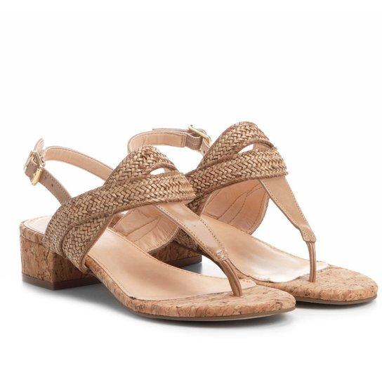 1f42afc9c2 Sandália Shoestock Salto Grosso Trançada Feminina - Compre Agora ...