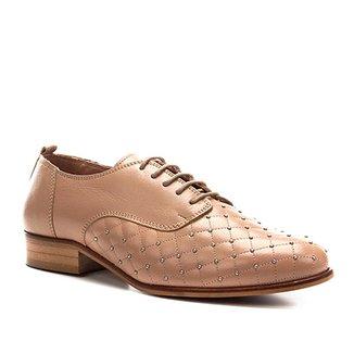 8cb0b70cce Oxford Couro Shoestock Matelassê Metal Feminino