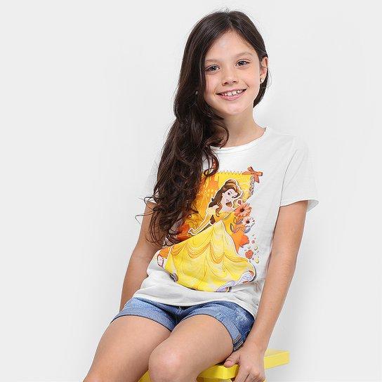 00848d08b Camiseta Infantil Disney Bela Feminina - Compre Agora
