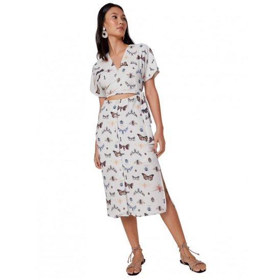 3709f8579 Vestido Amaro Midi Feminino - Off White | Zattini