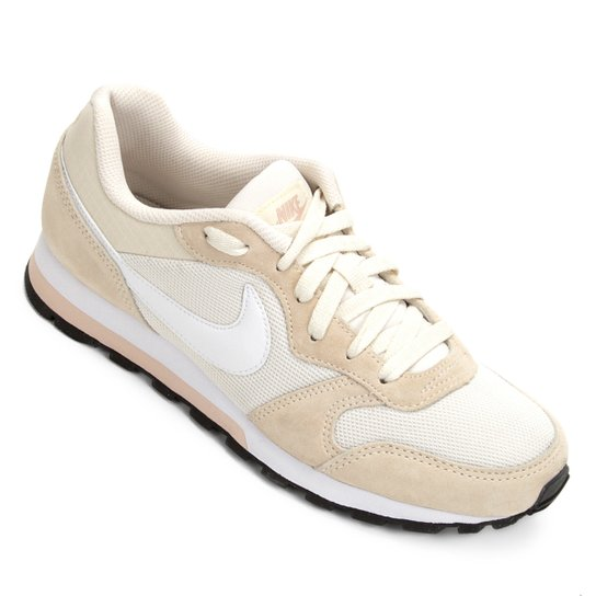 72f994a27 Tênis Nike Md Runner 2 Feminino - Bege e Branco - Compre Agora