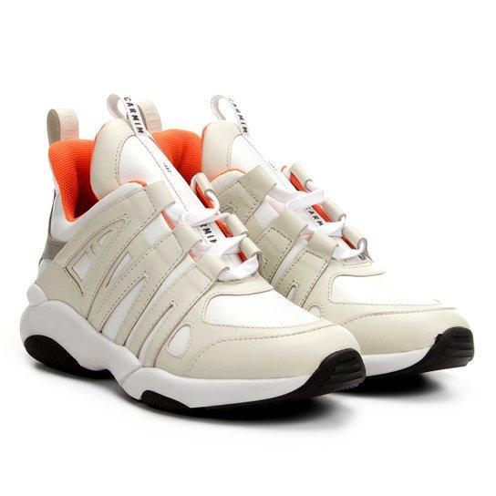 d02ae9a86 Tênis Couro Carmim Chunky Sneaker Feminino - Off White | Zattini