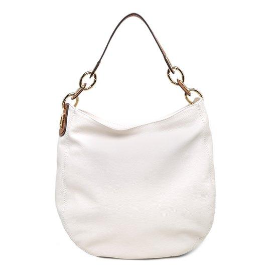 ce3e4bfa3 Bolsa Couro Luz Da Lua Hobo Alça Corrente Feminina - Off White
